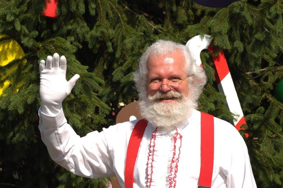 Santa on duty at Holiday World