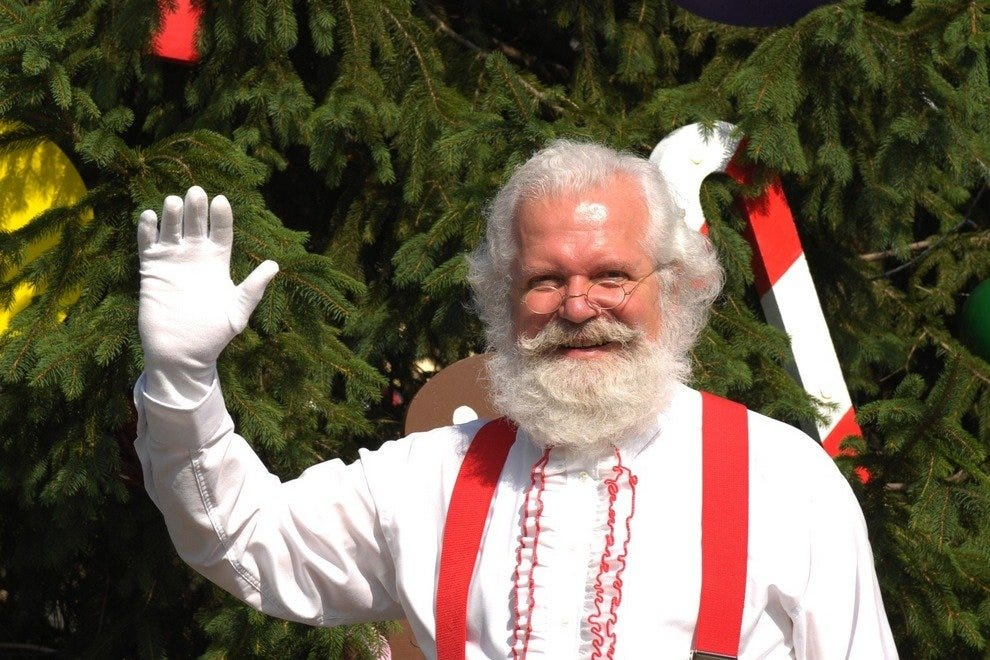 Santa on duty at Holiday World