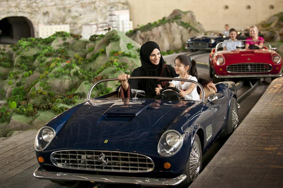 Ferrari-themed ride at Ferrari World.