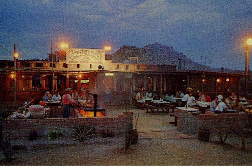 Pinnacle Peak Patio has been serving up mesquite grilled steaks, chicken, ribs and more in an authentic western setting since 1957.