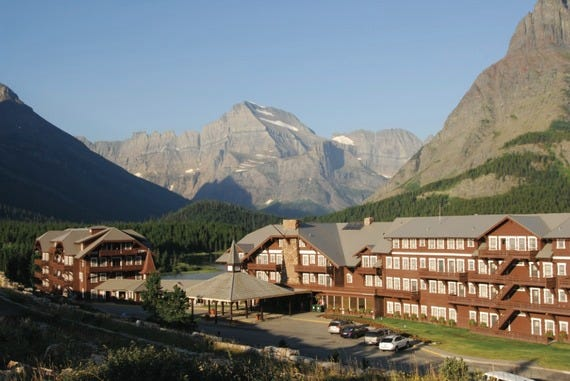 Many Glacier Hotel at Glacier National Park
