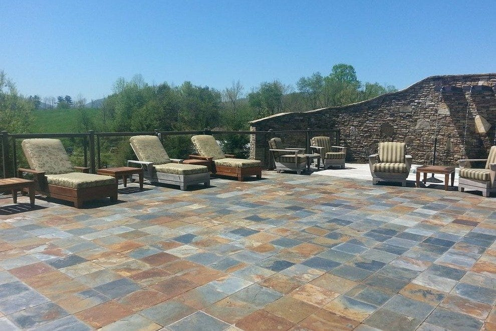 Patio at the spa at Brasstown Resort