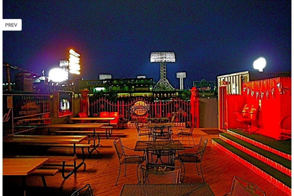 Roof deck at the Baseball Tavern