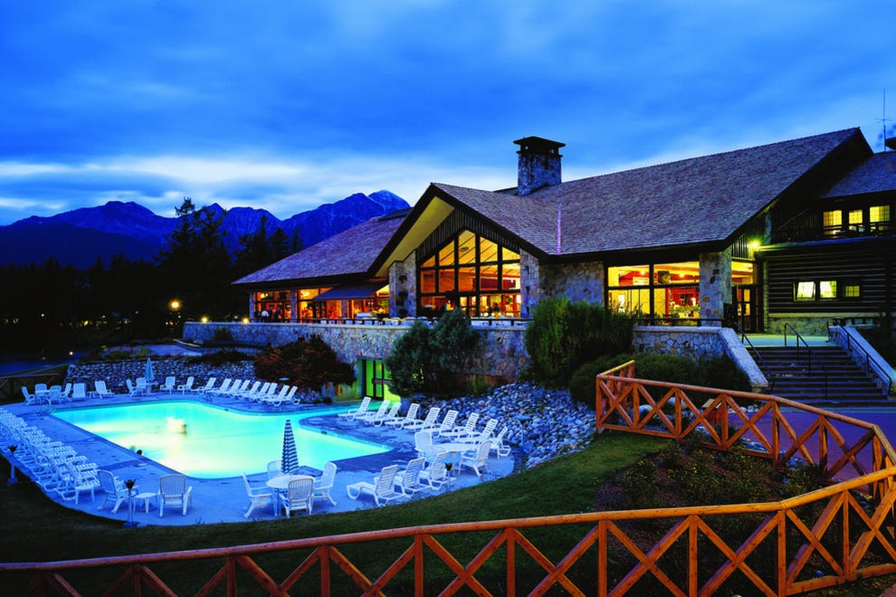 Jasper Park Lodge outdoor heated pool