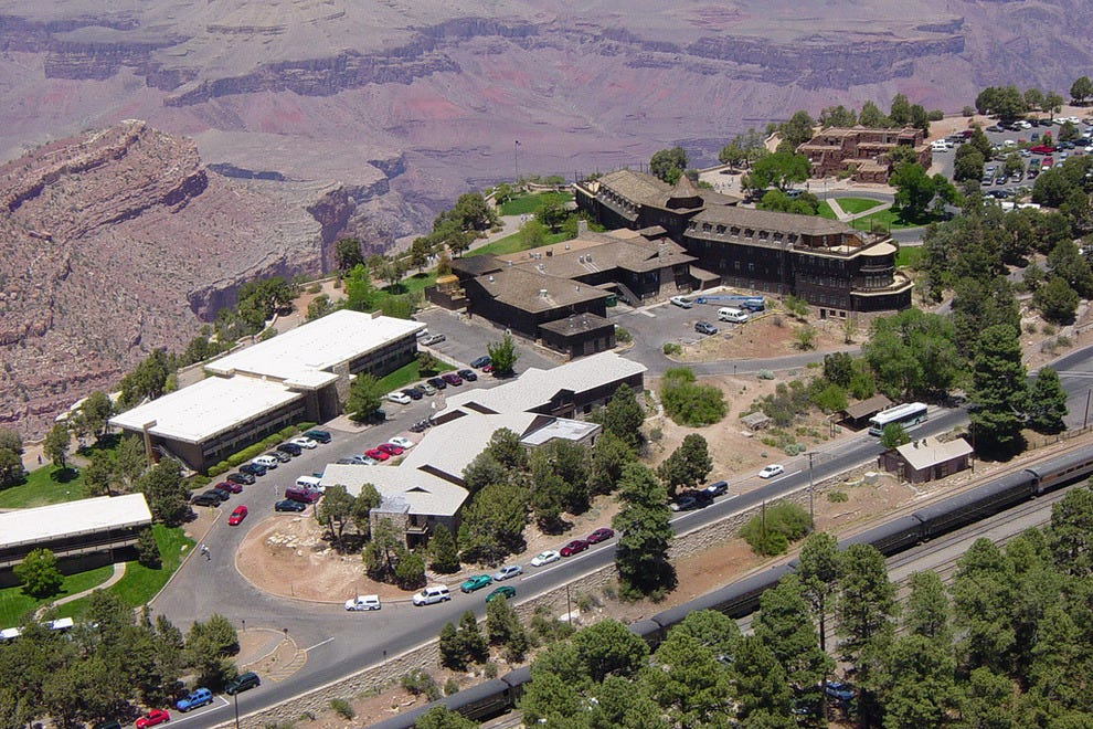 Collection of lodges at the south rim of the Grand Canyon.