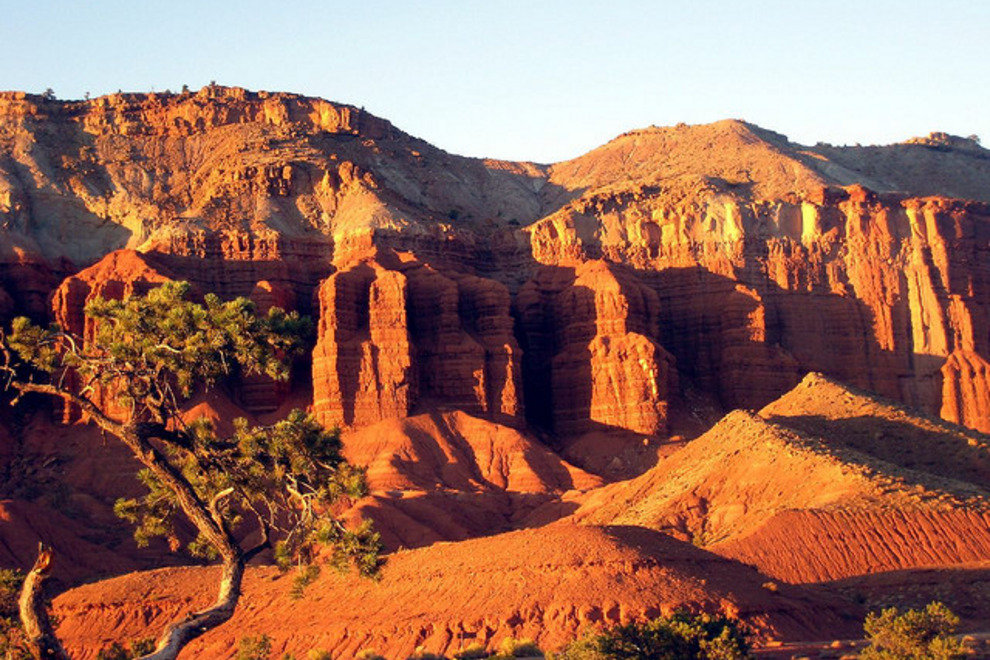 Capital Reef at sunset