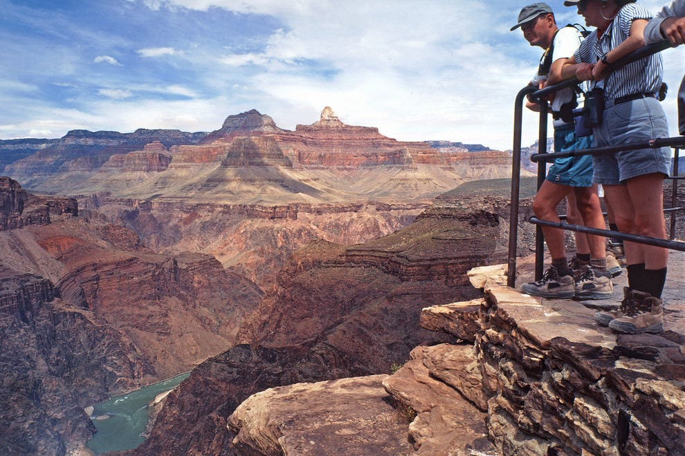 Grand Canyon Visitors along Bright Angel Trail