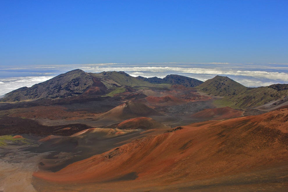View over Haleakala National Park