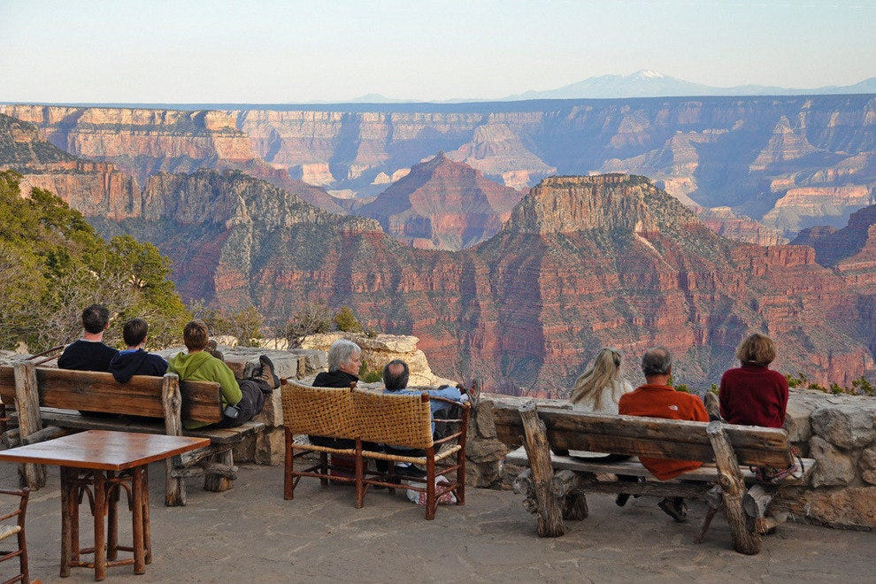 Grand Canyon Lodge terrace