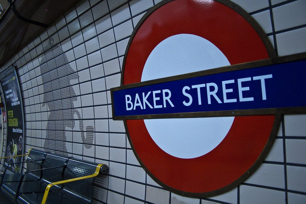 Baker Street was the setting for Doyle's famous Sherlock Holmes mysteries
