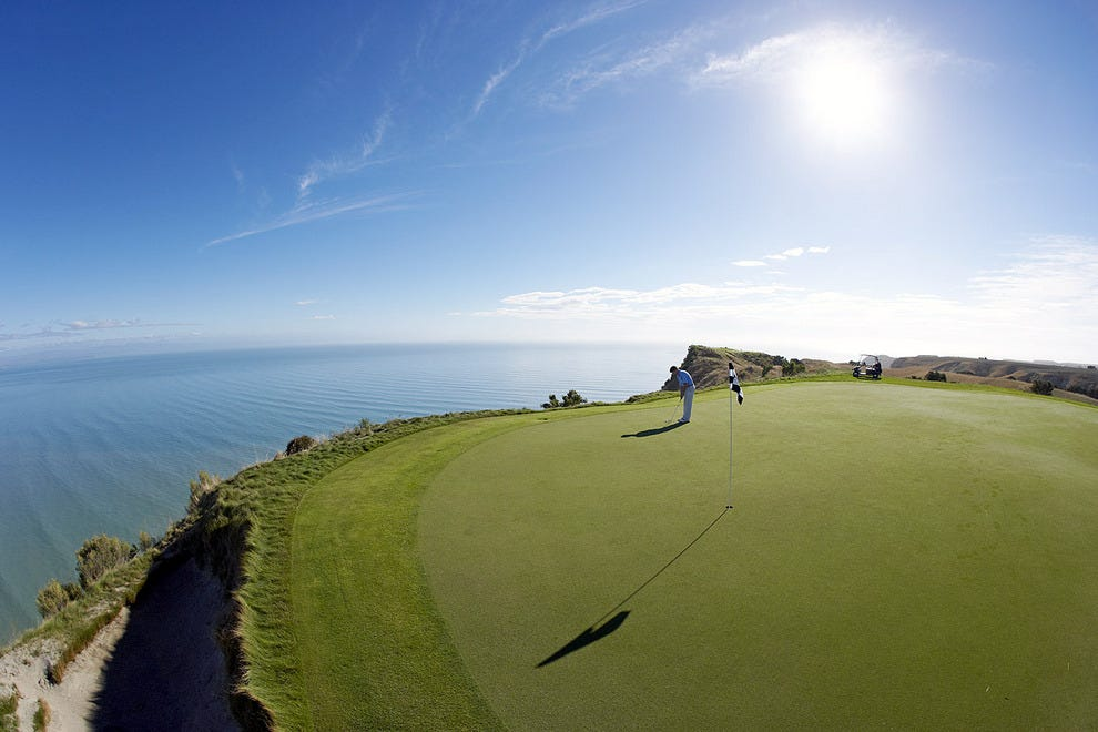 15th Green at Cape Kidnappers