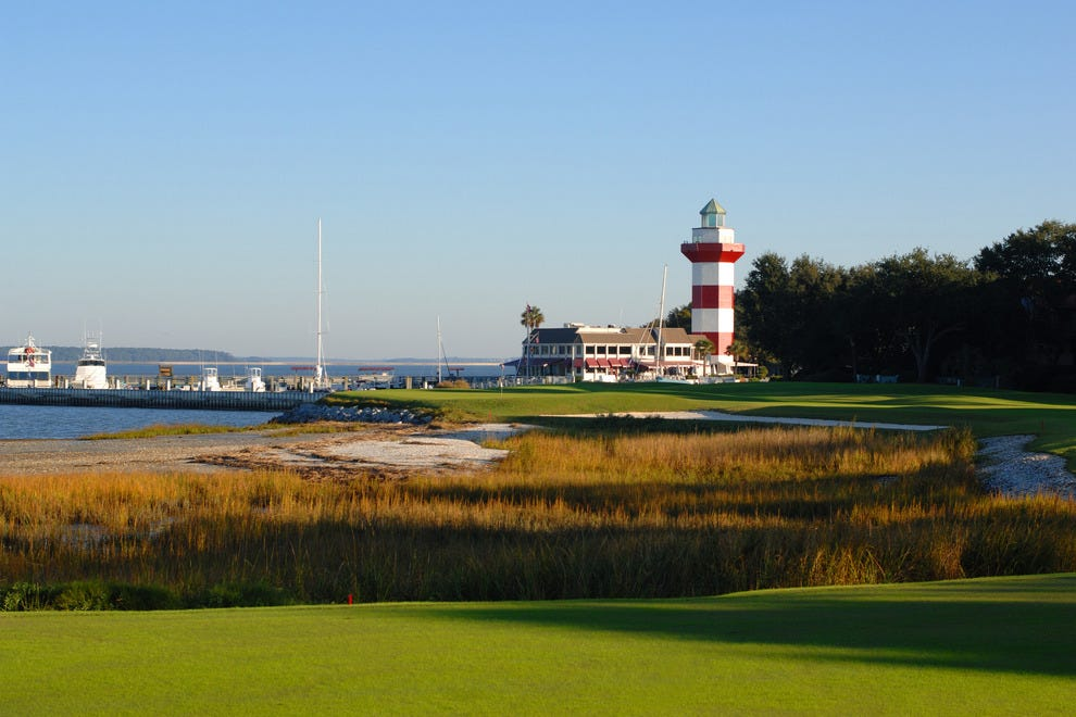 18th green of Harbour Town Golf Links