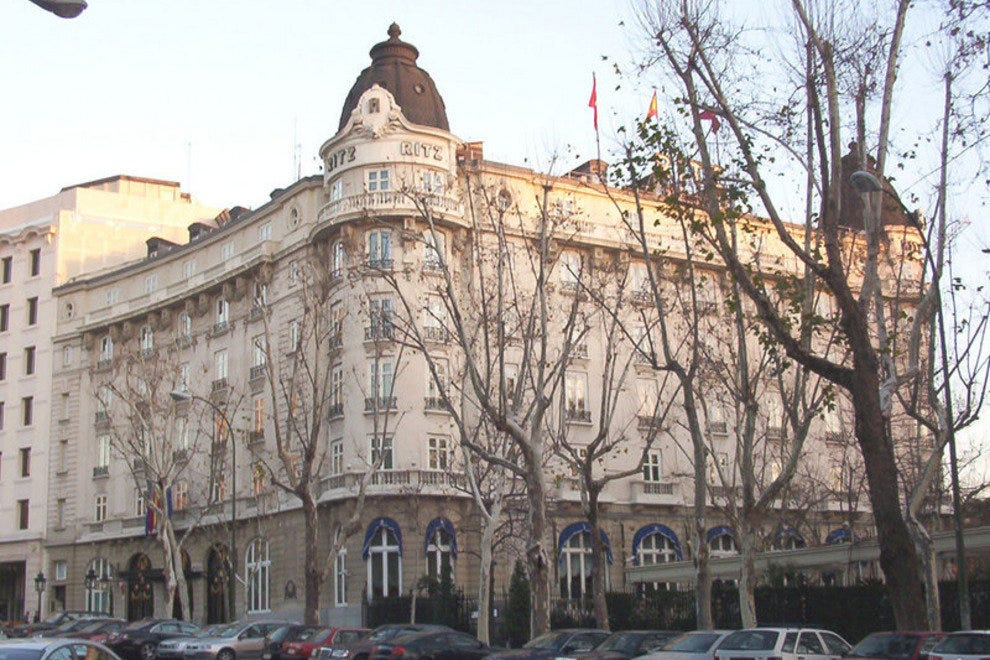 The Hotel Ritz Madrid from the outside