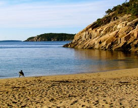 Mt. Desert Island's Sand Beach Offers Cool Escape