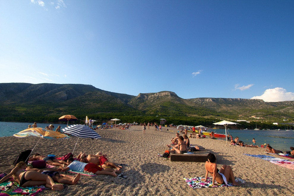 The golden sands of Zlatni Rat