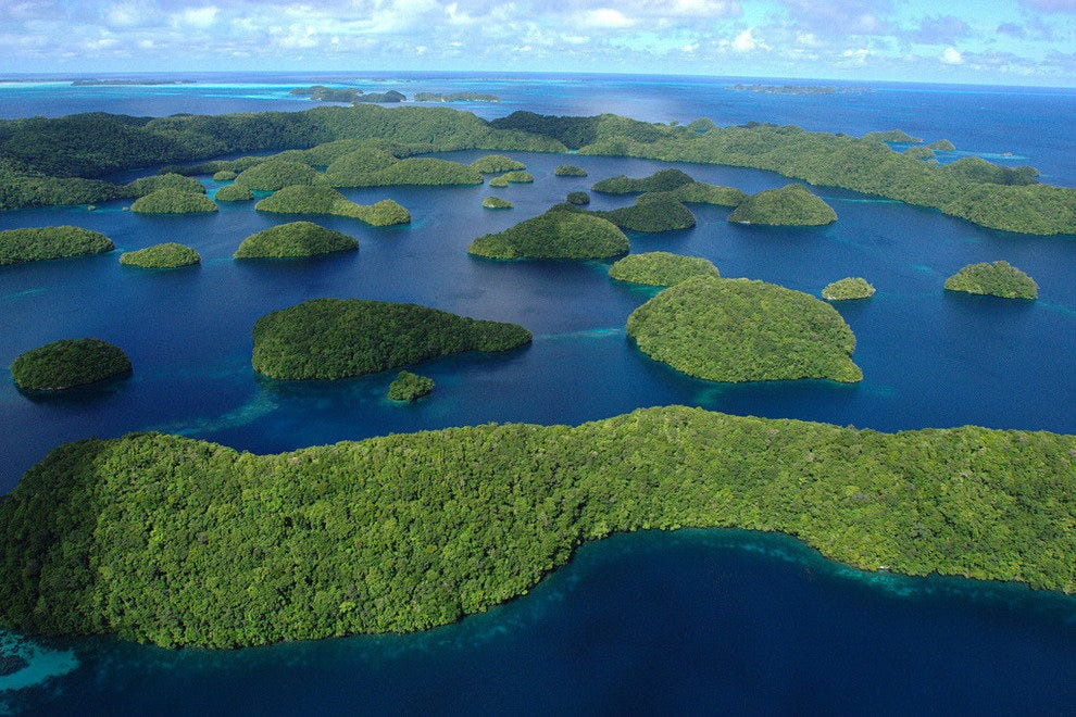 Palau in the Pacific
