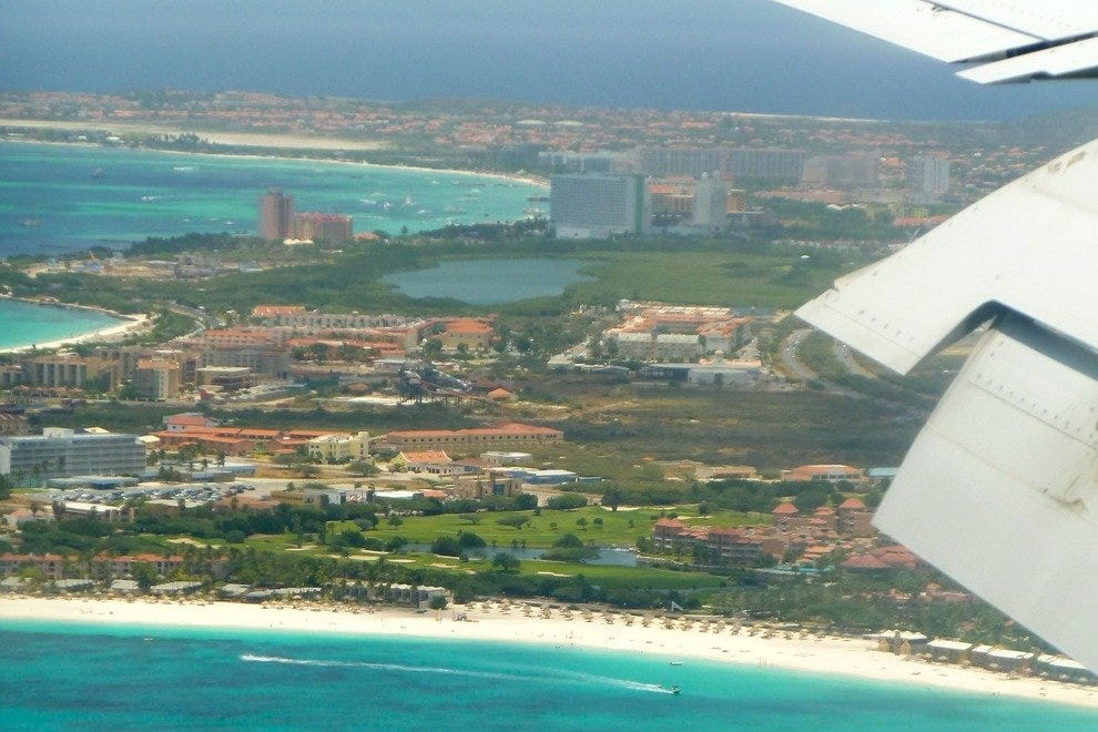 Aruba from a bird's eye view