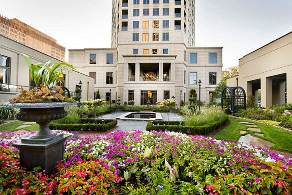 The beautiful flower garden just outside Mandarin Oriental Atlanta