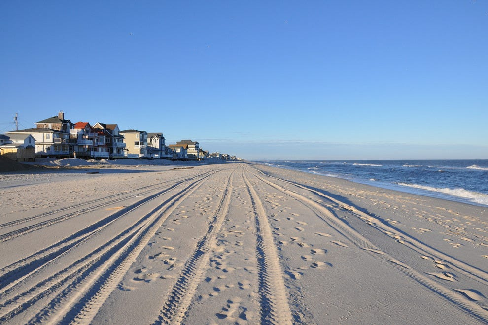 Long stretch of New Jersey Beach