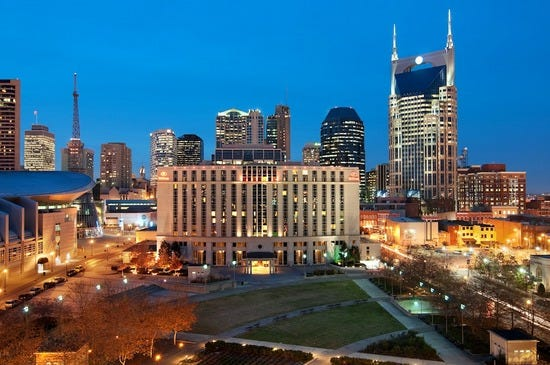 Downtown Atttractions And Hotels In Nashville