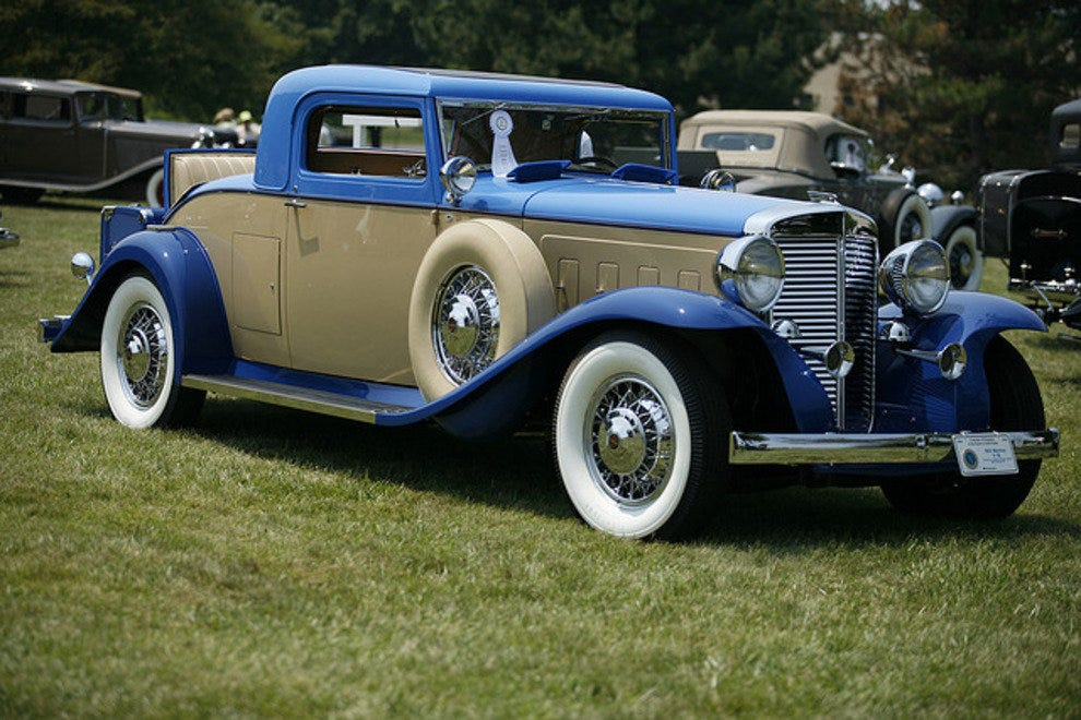 A blue ribbon award winner at a Concours d'Elegance event