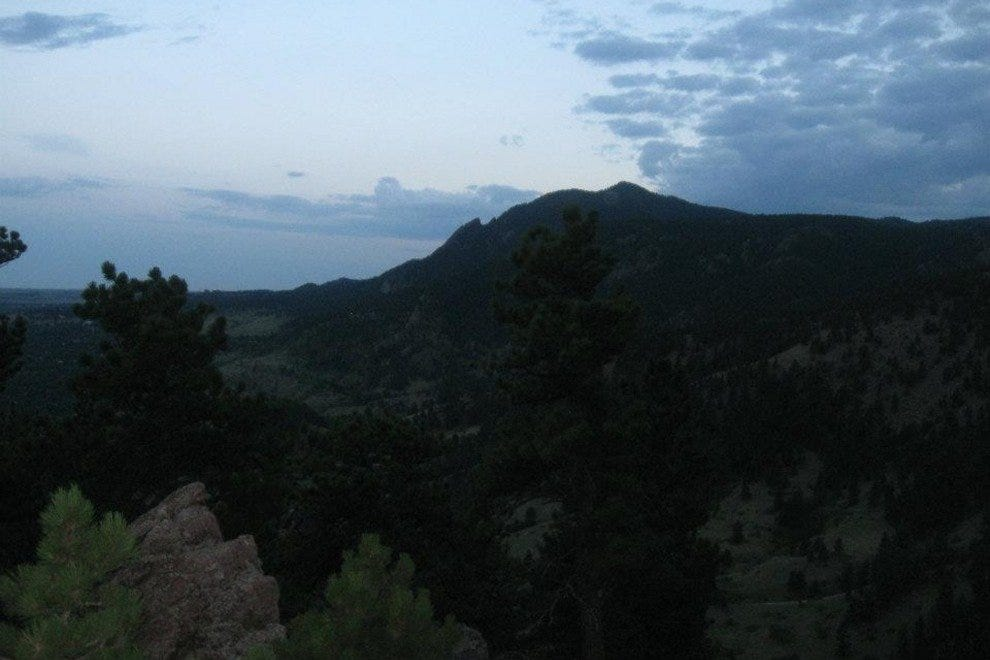 Green Mountain at Twilight  from the Summit of Sanitas