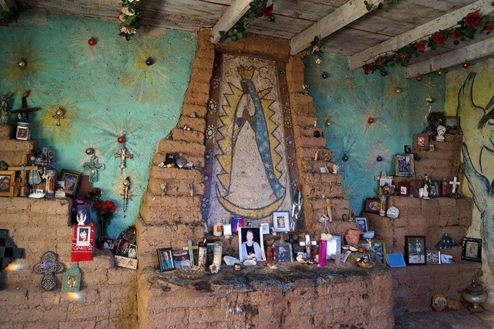 Artist Ted DeGrazia built this shrine to Our Lady of Guadalupe at his landmark studio and home in North Tucson