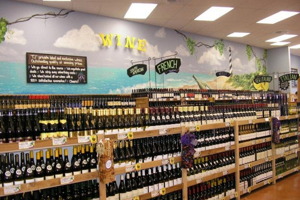 Trader Joe's wine section