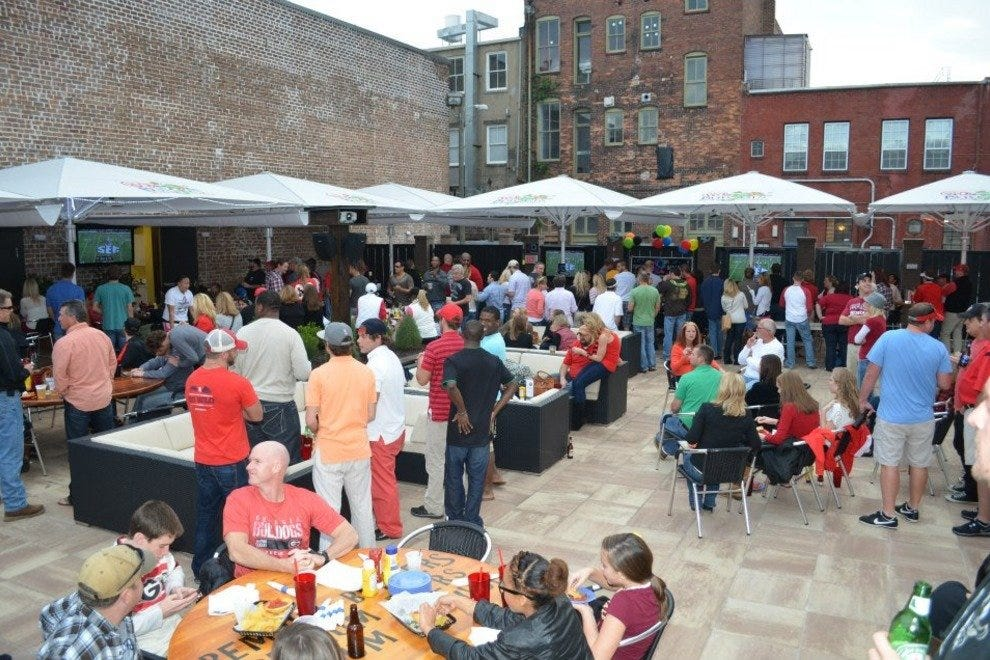 B&D Burgers' 4,000-square-foot patio always draws a crowd