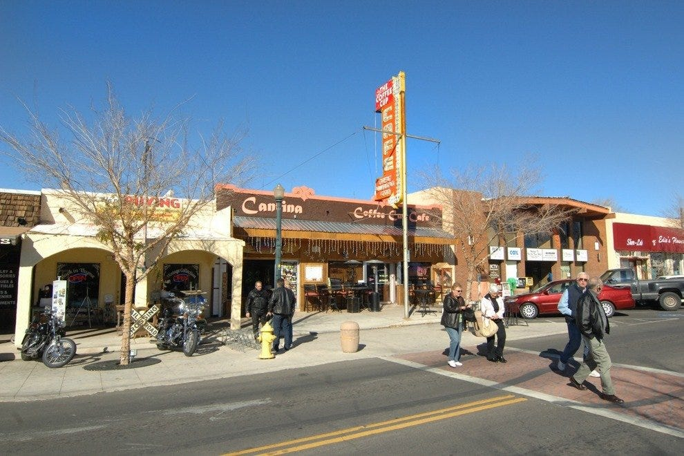 Boulder City features several quaint gift shops and restaurants for guests to enjoy