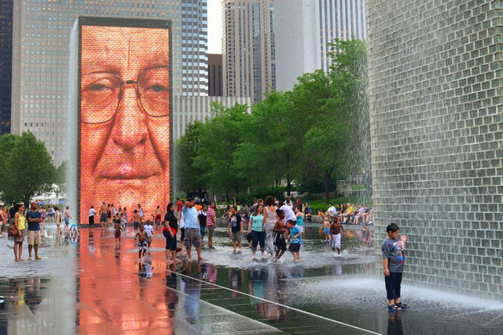 Crown Fountain at Millenium Park, Chicago