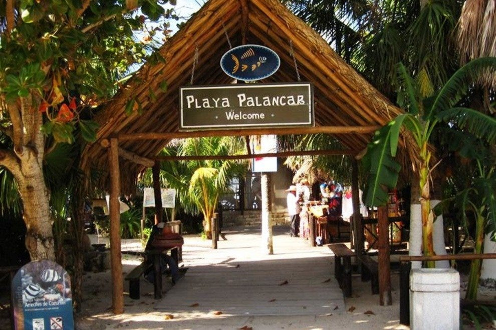 Playa Palancar is one of the only beaches on Cozumel with free access