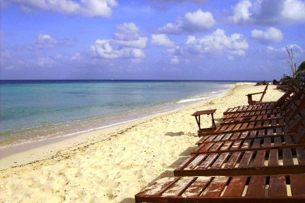 Playa Palancar isn't as crowded as other Cozumel beach clubs