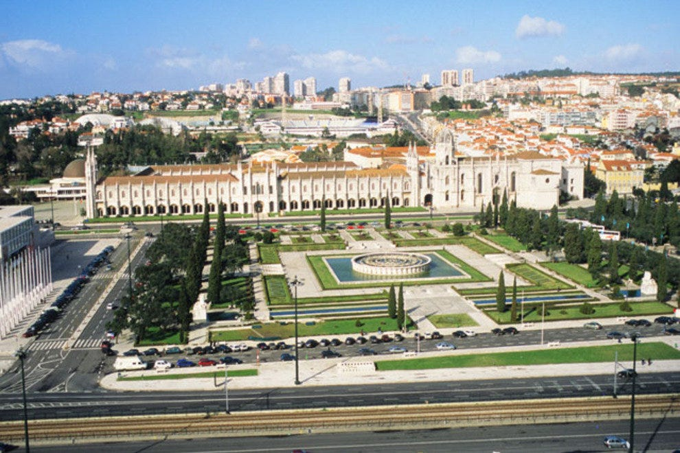 The 16th-century Mosteiro dos Jeronimos, a UNESCO World Heritage site