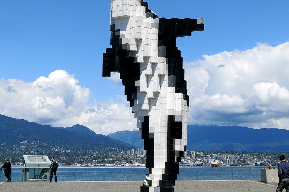 Pixelated Orca in Vancouver