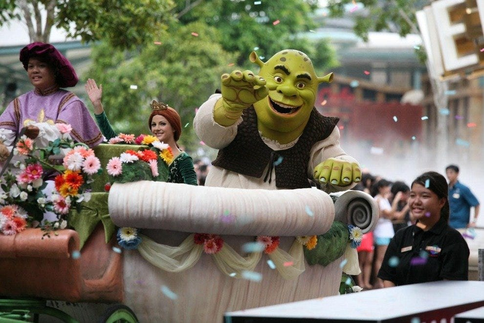 Meet Shrek at Universal Studios