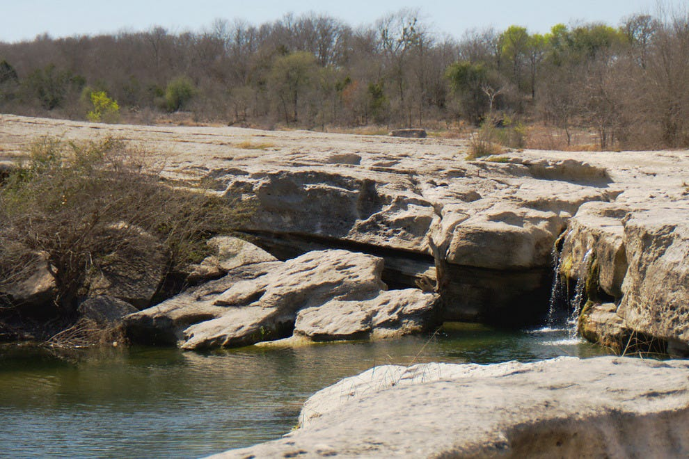 McKinney Falls is a popular spot in both summer and winter