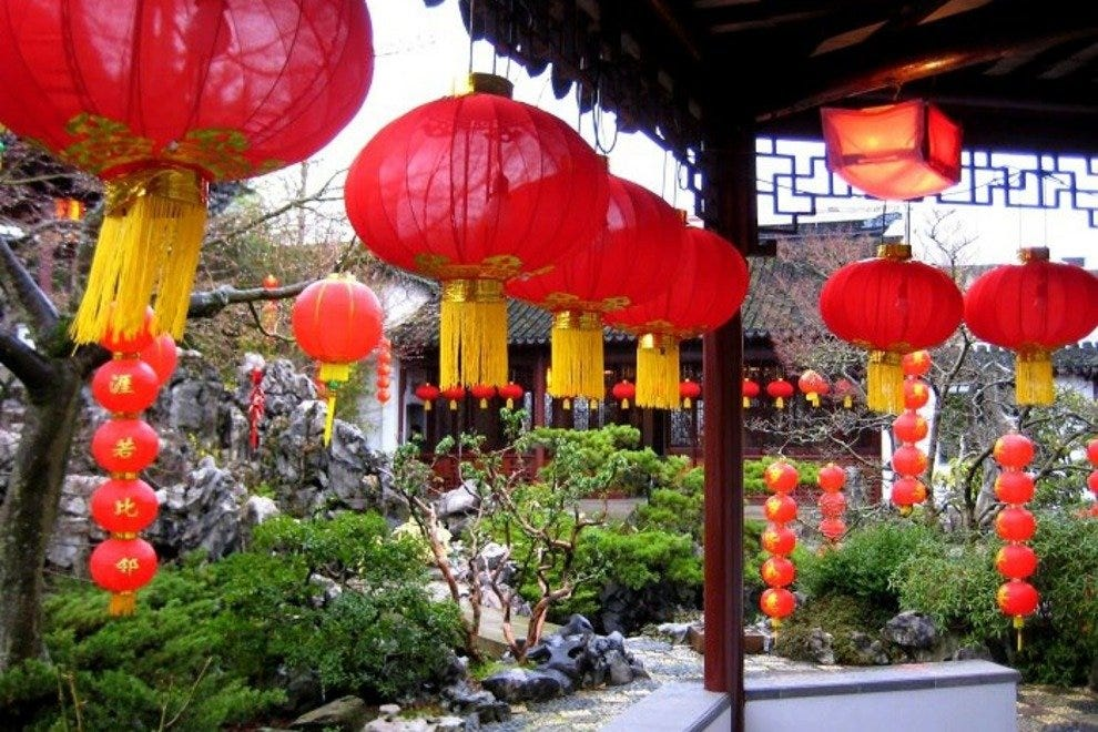 Chinese New Year celebrations at Dr. Sun Yat Sen Classical Chinese Garden in Vancouver's Chinatown