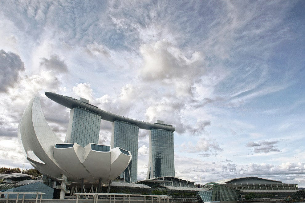 The ArtScience Museum and Marina Bay Sands