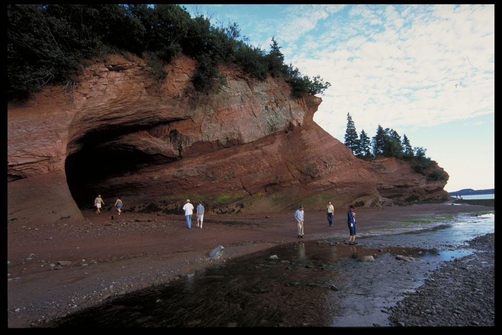 St. Martins Caves at low tide