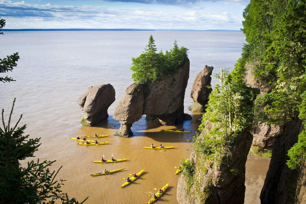 Hopewell Rocks at high tide