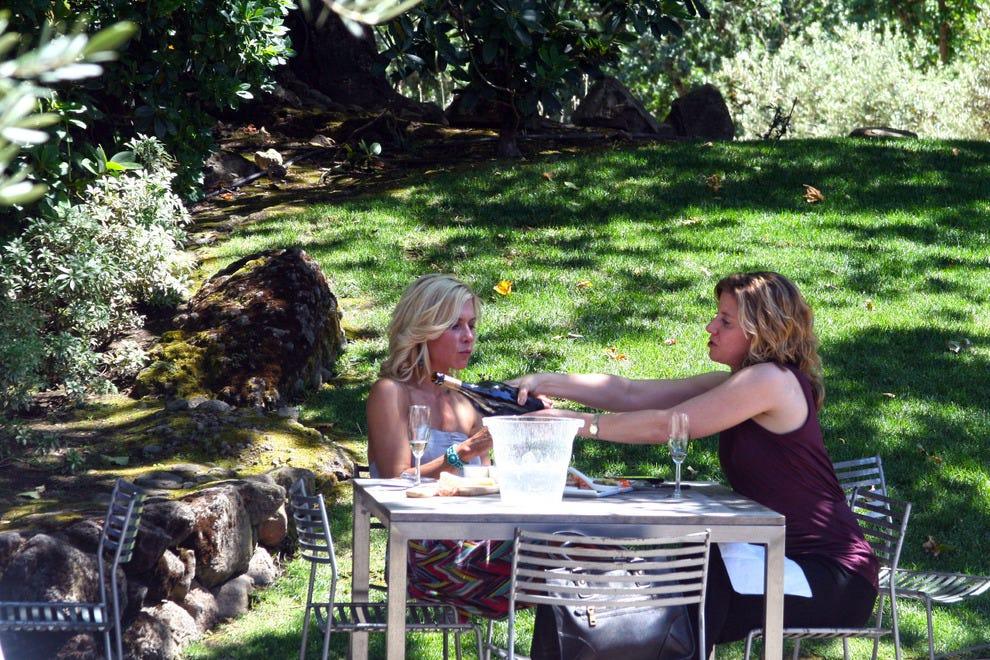 Domaine Chandon terrace and garden