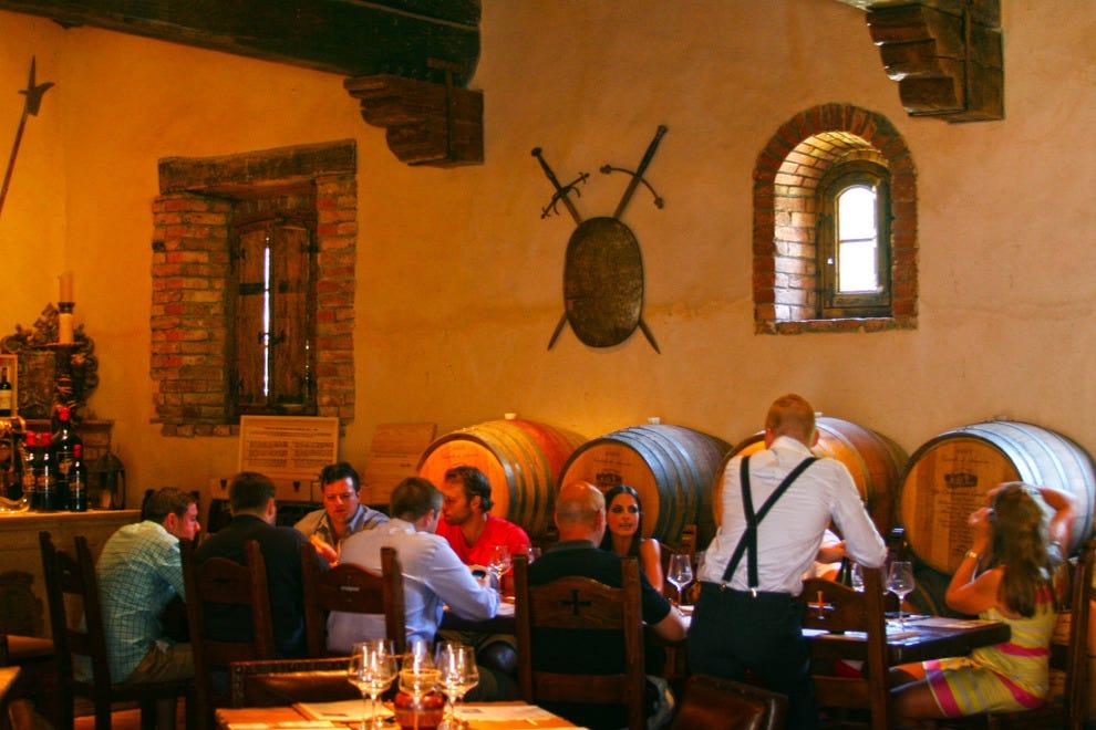 Winetasting event at the Castello di Amorosa