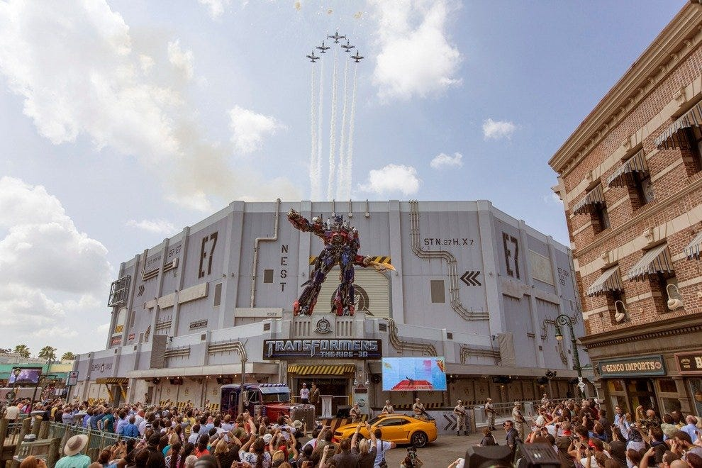 TRANSFORMERS: The Ride - 3D officially opens for business