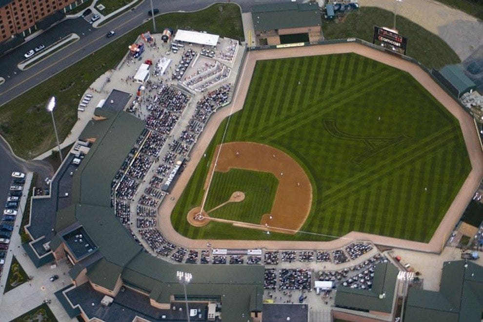 Ripken Stadium from above