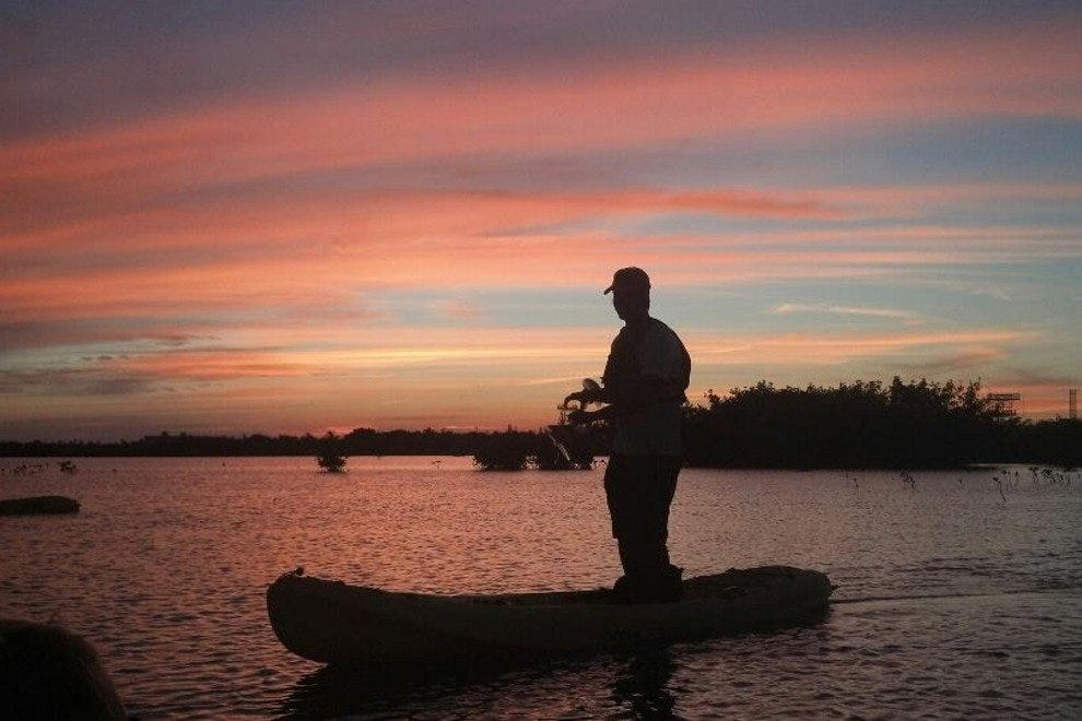 Sunset kayak fishing in Key West