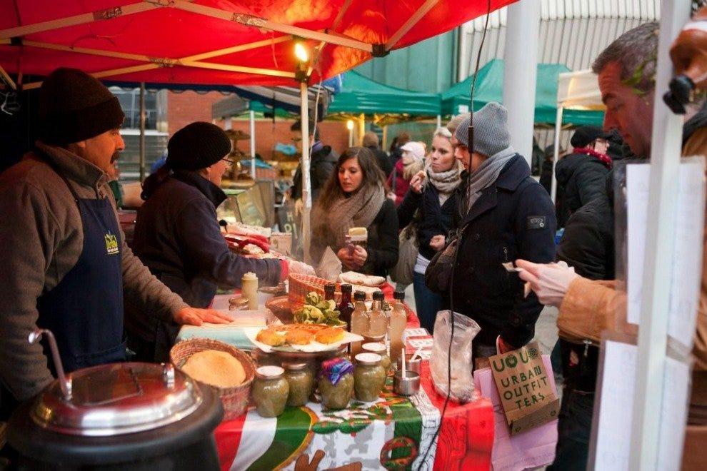 寺庙酒吧食品市场