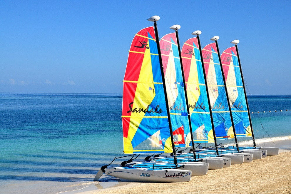 Hobie catamarans on the beach
