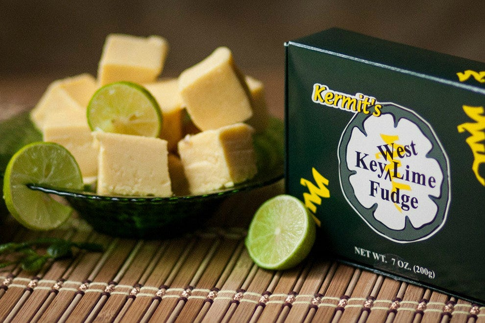 A tad more portable than Kermit's famous pie, their Key lime fudge is a tasty treat