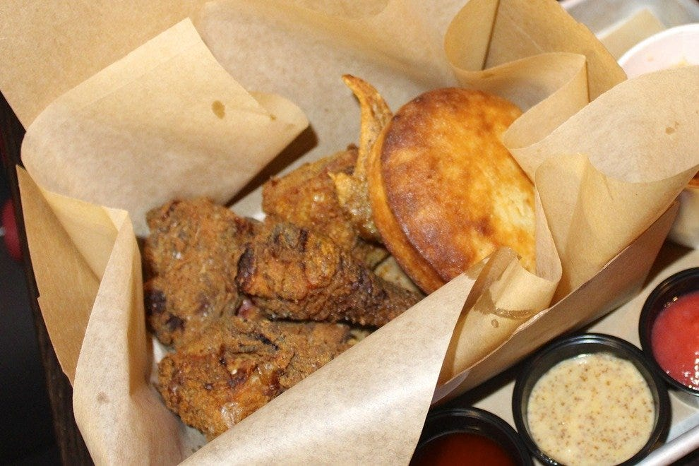 Jm Curley serves fried chicken with killer sauces